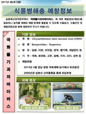 (2017년 2호) 식물병해충 발생정보