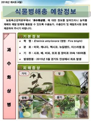 (2018년 4호) 식물병해충 발생정보