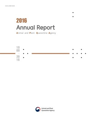 2016 농림축산검역본부 영문연보