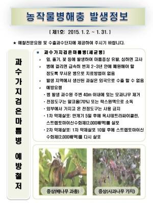 (2015년 1호) 식물병해충 발생정보