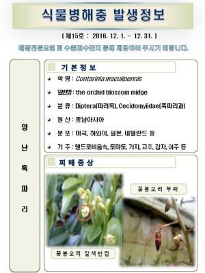 (2016년 15호) 식물병해충 발생정보