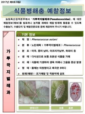 (2017년 9호) 식물병해충 발생정보